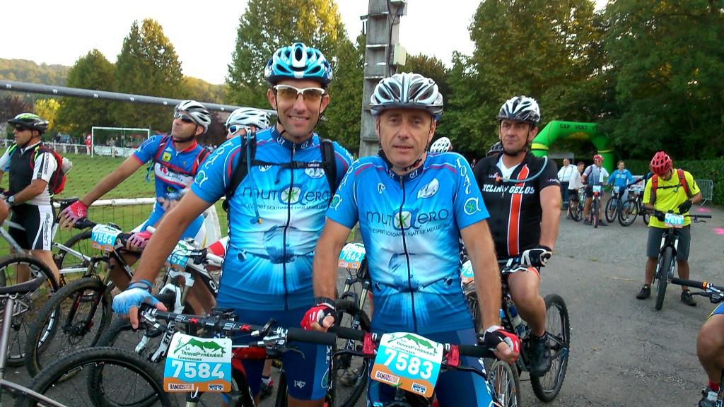 Patrick et Christophe au départ du 75 km