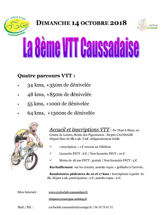 Caussadaise VTT 2018