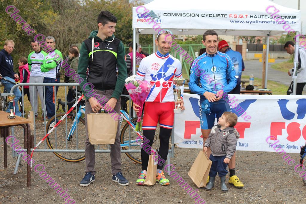 Premier podium de la saison pour Nicolas derrière 2 champions de France, félicitation!