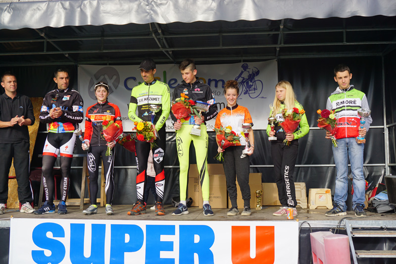 Le podium des vainqueurs!