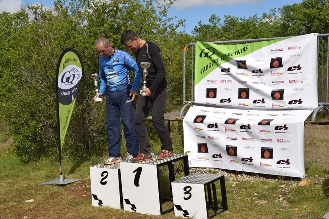 Belle 2èùe place de Patrick derrière José Barcelot notre vice champion national de cyclo-cross.