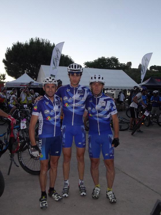 Thierry,Fabien , Patrick avant le départ aux aurores.
