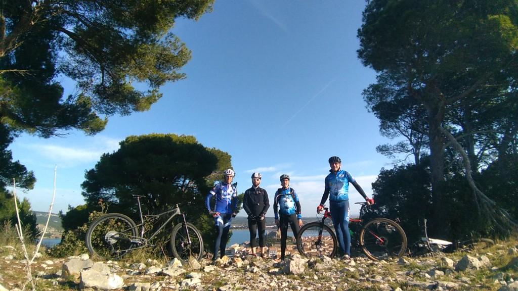 De gauche à droite, Christophe, Pascal, Sebastien et Philippe