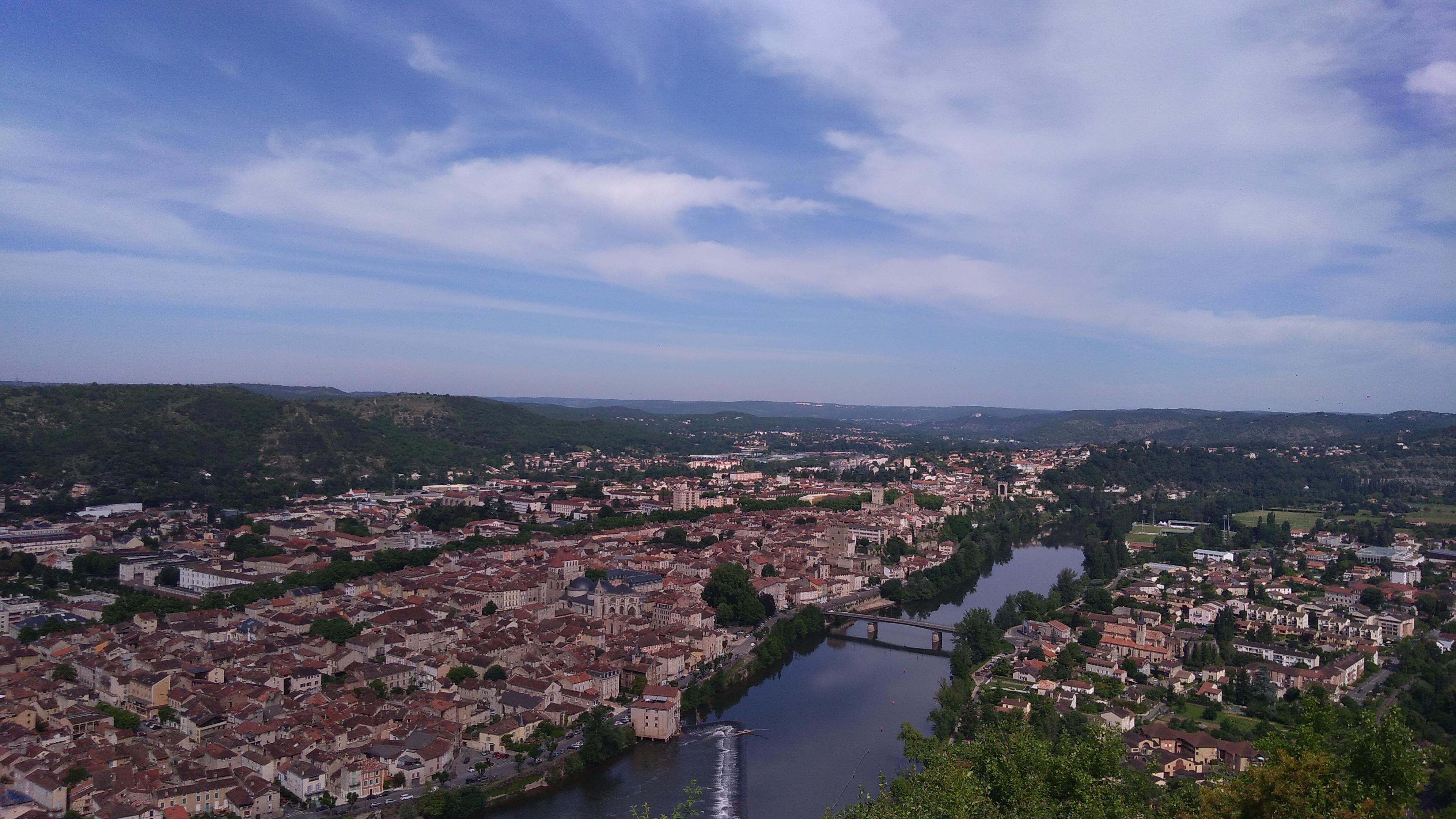 Joli point de vue sur Cahors!
